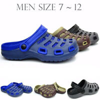 Men's Clogs Garden Shoes Slip On Non Skid Mule Light Weight Sandals Casual