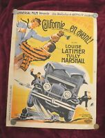 California Straight Ahead: 1937 vintage FILM POSTER John Wayne, folded: Koutachy