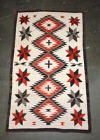 Handsome Antique Navajo Indian Ganado Rug c. 1930 with Stars