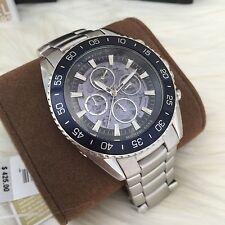 NWT!Michael Kors MK9024 Men's JetMaster Blue Skeleton Dial STL Automatic Watch