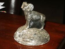 Vintage Plaster Chalk Wildlife Figurine Ram Sheep Made in Canada
