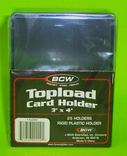 25 TOPLOAD CARD HOLDER FOR SPORTS/ TRADING CARDS, 12M 3 X 4 RIGID PLASTIC, BCW