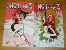 Priority: White Heat #1-2 VF/NM complete series - good girl secret agent  AC set