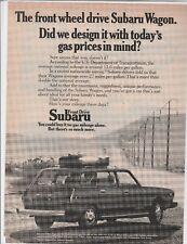Original 1974 Subaru Wagon Magazine Ad -...Today's Gas Prices In Mind