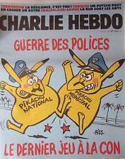 CHARLIE HEBDO No 1253 JUILLET 2016 GUERRE POLICES POKEMON PIKACHU JEU A LA CON