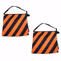 2 x Photo Studio orange Sandbags Weight Sand Bags for Lighting Boom Arm Stand