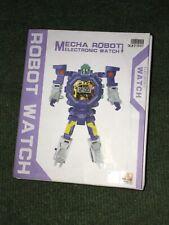 Cartoon Transformer Robot Watch Wristwatches Kids Figure Toys **UK FAST POST**