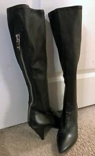 Sigerson Morrison Vero Cuoio Black Soft Leather Pull On Boots - 7.5