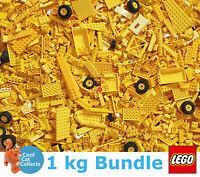 Genuine Lego 1kg / 1000g Bundle of Mixed Yellow Bricks Joblot + Free Minifigure