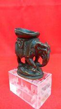 Théophile HINGRE 19° Sculpture animalière en bronze Pyrogène formant éléphant
