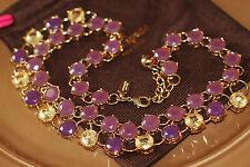 Amazing Kate Spade Crystal PURPLE HUES vintage necklace