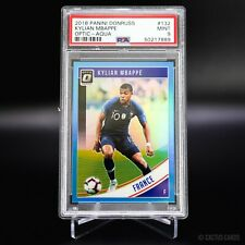 2018 PANINI DONRUSS KYLIAN MBAPPE OPTIC AQUA /149 #132 - PSA 9 MINT - FRANCE
