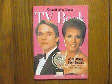 June 2, 1991 Detroit Free Press TV Book/Magazine  (JULIE  ANDREWS/JEREMY  IRONS)