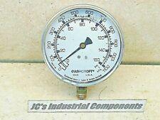 "Ashcroft   0 - 160 PSI   0 - 1100 kPa  pressure gauge  1/4"" npt  liquid filled"