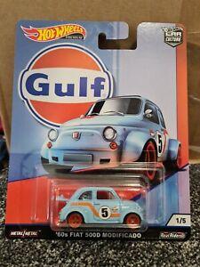 Hot Wheels 2019 '60s Fiat 500D Modificado Light Blue Car Culture Gulf 1/5 New
