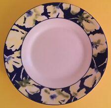"Oneida China Table Trends Jasmine Yellow Flower Blue Band Saucer 6"" Diameter"