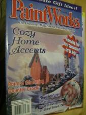 Paint Works Magazine January 1999 Cougar, Winter Barn, Scene, Ornaments, Angels,