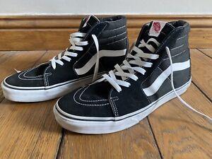 Size UK 12 - VANS Sk8-Hi Black - SK8 HI