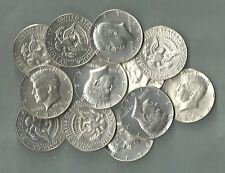 1965-1969 KENNEDY HALF DOLLARS, US 40% Silver Coin Lot - 12 Coins - $6.00 Face