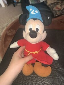 Disney Mickey Mouse Fantasia Plush Soft Toy Bean Bag Collectable Sorcerer