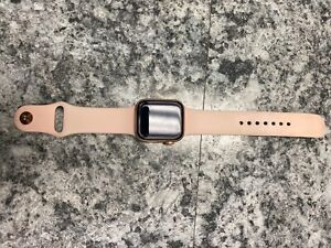 apple watch series 4, 44m, rose gold with original pink band