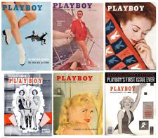 VINTAGE PLAYBOY 1950 50's fashion magazine models print/poster A4/A3