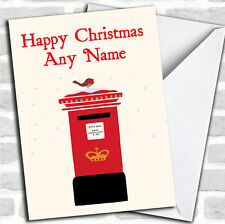 Post box Christmas Customised Card Personalized
