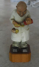 "Vintage 1958 Anri Wood Pediatrician Doctor Man Figurine 5 1/4"" Tall 11801/2"