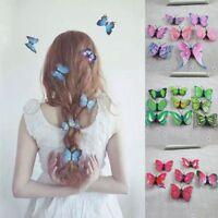 5Pcs Kostüm Schmetterling Haarspangen Braut Haar Dekor Hochzeit Pins Tiara