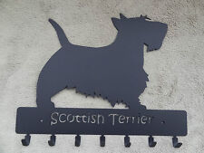 Key rack with 7 hooks, Scottish Terrier design