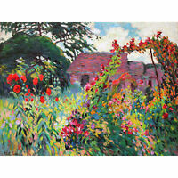 Pinchon Garden Of Papaver Flowers Bright Painting Extra Large Art Poster