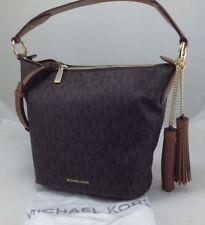 Michael Kors Handbag Elana Medium Convertible Shoulder Bag, Brown Signature