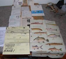 Large Lot Of Vintage Fishing Material Zebco 202 Reel Bronson Guide Heddon(F36)