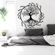 Tree Wall Decals Vinyl Sticker Decal Yoga Studio Gym Decor Home Heart Art Ah139