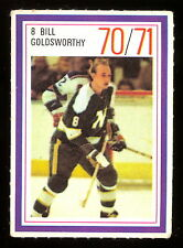 1970-71 ESSO POWER PLAYERS NHL 8 BILL GOLDSWORTHY EX-NM NORTH STARS UNUSED STAMP