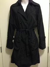 G.E.T. Equipement General Technique Black Belted TRENCH COAT Sz S