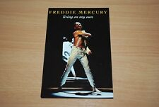 FREDDIE MERCURY RARE 'LIVING ON MY OWN' UK PARLOPHONE PROMO FAN CLUB CARD queen