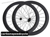 Full Carbon Fiber Road Bike Wheels 25mm Width 60mm Clincher Racing Wheelset