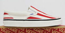 NIB VANS Slip-On 9 Men's Anaheim Factory OG Red Stripe Low Top Sneakers Shoes