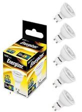 5 x Energizer GU10 LED Light Bulb 350lm Spot 5W=50W Warm White 3000k 36°