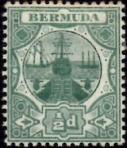 Bermuda 1909 1/2d Green  SG.36 Mint (Hinged)  Wmk Multi Crown CA    Cat:£26