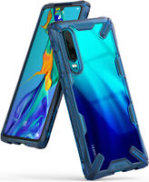 For Huawei P30 Case | Ringke [FUSION-X] Shockproof Clear PC Back TPU Armor Cover