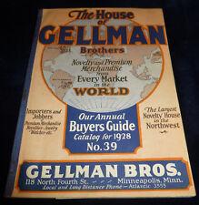 Rare Original 1928 The House of Gellman Brothers Novelty Premium Catalog No. 39