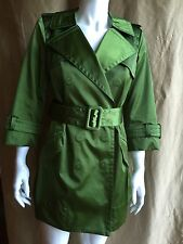 MARC JACOBS GREEN RUNWAY TRENCH JACKET COAT size 6