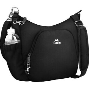 Matein Women's Crossbody Shoulder Bag Anti-Theft RFID Travel Organizer Purse