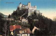Salzburg Austria birds eye view Hohensalzburg Castle antique pc Z16638