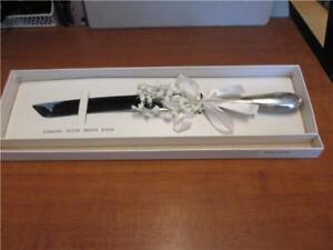Bride's Sterling Cake Knife-Vintage    #16402C