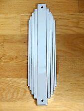 Reciclado Cromo Art Deco Dedo Empuje Placa Placa Puerta