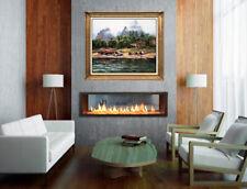 Ben Abril Large Original Oil Painting on Canvas Signed Landscape Framed Artwork