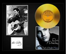 More details for elvis presley that's alright mama gold record cd mounted  display free post